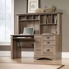home office desk and hutch. sauder harbor view computer office desk with hutch salt oak finish organize file home and