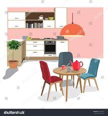 Esszimmerillustration Interieurdesignszene Modernes Haus