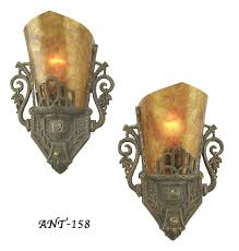 vintage hardware lighting pair of antique red art deco wall sconces ant 158