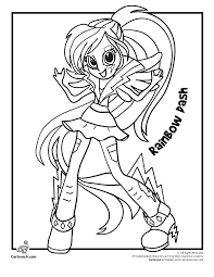 Rainbow Dash Coloring Pages For Free Download Jokingartcom