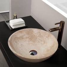 travertine vessel sink.  Travertine Helena Stone Vessel Sink White Jade Travertine With Sink