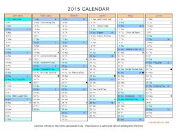 Calendar Template Xls 2015 Sample Customer Service Resume