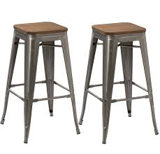 distressed metal furniture. BTEXPERT® 30-inch Industrial Stackable Vintage Antique Clear Brush Distressed Metal Bar Stools Wood Furniture