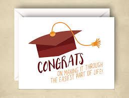 Funny Graduation Card Funny Congrats Card 5 5 X 4 25 Inch