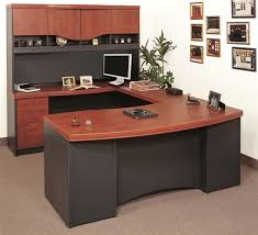 home office shaped. gorgeous home office u desk bow front shape with left return and hutch desks shaped