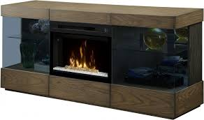 axel raked sand media console electric fireplace with glass ember bed