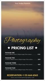 Customize 850 Photography Templates Postermywall
