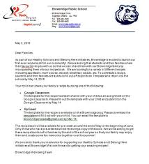 Healthy Schools Initiative Recipe Book Brownridge Public School