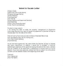 Notice To Vacate Letter Written Notice To Vacate Example Harezalbaki Co