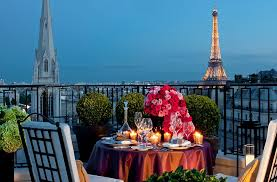 Paris Two People Can Enjoy Perfect Romantic Meal Balcony