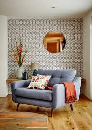 Orange Accessories Living Room Round Copper Wall Mirror Mirrors Accessories