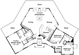 Hexagon House Floor Plans  Google Search  Hexagon Home Hexagon House Plans