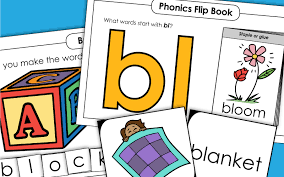 Printable phonics worksheets and flash cards: Phonics Worksheets Consonant Blend Bl