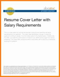 Resume Examples Templates What Do For Salary Requirements In A Best