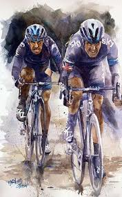 collection of watercolour cycling arts painted by artist dtai s  on peloton abstract cycling team metal wall art with 615 best cycling art images on pinterest cycling art bicycle art