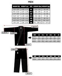 A3 Size Chart Bjj Gi Size Chart Rash Guards Sizes Atama Kimonos Size Chart