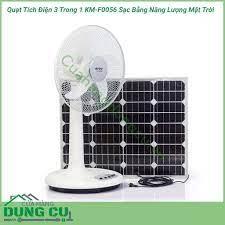 Quạt tích điện 3 trong 1 KM-F0056 sạc bằng năng lượng mặt trời