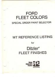 Details About 1970s Original Ford Truck Ditzler Fleet Colors Special Paint Wt Reference 2