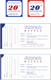 raffle ticket layout