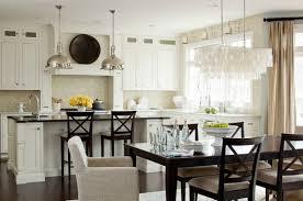 large rectangular hanging capiz pendant transitional kitchen lauren liess interiors