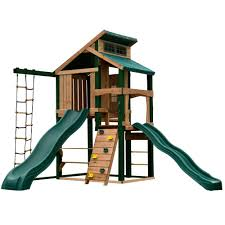 swing n slide playsets hideaway clubhouse plus playset with cool wave and alpine slides