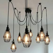 wiring a lamp with multiple bulbs impressing multiple pendant lights in industrial wire guard 8 bulbs multi light com