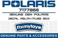 polaris fuse relay box in atv parts 7177866 oem polaris decal relay fuse box