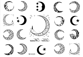 Amazoncom Tattify Moon Cycle Temporary Tattoo Just A Phase Set