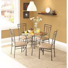 Glass Kitchen Table And Chairs Round Glass Kitchen Table And Chairs