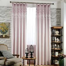fresh pink cotton palm tree striped living room curtains decorating shower curtain bed bath and beyond