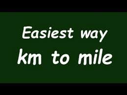 Miles And Kilometers Conversion Chart