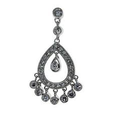 925 sterling silver cubic zirconia chandelier drop earrings