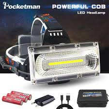 <b>60000lm</b> super bright COB LED Headlight repair light Head Lamp ...