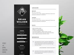 Free Clean Modern Minimal Cv Resume Template In Photoshop Psd