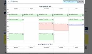 Schedule Table Maker Faculty Of Arts Science Introduces Timetable Maker The