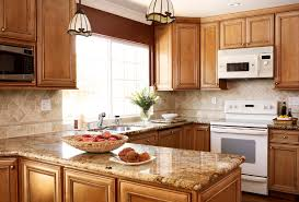 Maple Kitchen Cabinets Backsplash With Subway Tile Throughout Design