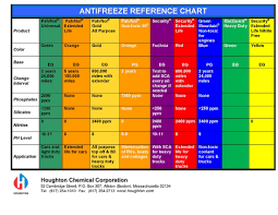Zerex Coolant Compatibility Chart 70 Interpretive Antifreeze Chart Coolant