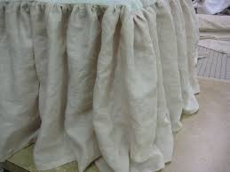 extra long bed skirt. Fine Extra Extra Long Washed Linen Gathered King Bedskirt By Cottageandcabin 25000 On Bed Skirt E