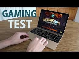 apple gaming laptop. apple macbook (12-inch): gaming \u0026 performance test! laptop