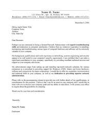 Free Basic Cover Letter Examples Enchanting Systems Administrator