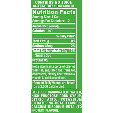sprite nutrition facts best pictures and 7up lemon lime soda 12 fl oz cans pack