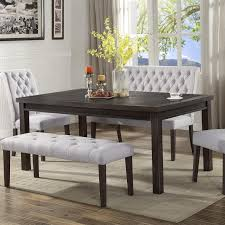 gray dining room table. Crown Mark Palmer Dining Table Gray Room