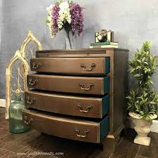 Vintage furniture ideas Makeover Furniture Bronze Painted Chest Metallic Chest Of Drawers Vintage Chest Teal Drawers Painted Just The Woods Llc The Ultimate Guide For Stunning Painted Furniture Ideas