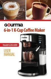 Gourmet coffee is the blend of the very best coffee beans, picked at just the right time, and then. Gourmia Gcm6000 6 In 1 Coffee Maker