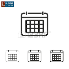 calender outline calendar outline icon on white background editable stroke