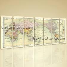 World Map Home Decor World Map Global Atlas Hd Print On Canvas Modern Wall Art Home Decor