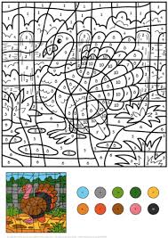 Small Picture Turkey Color by Number Free Printable Coloring Pages