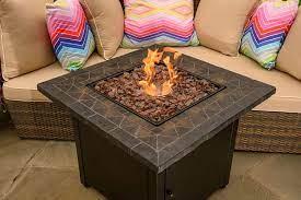 Blue Rhino Outdoor Propane Fire Pit Amazon De Küche Haushalt