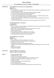 Housekeeping Attendant Resume Samples Velvet Jobs