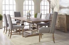 manor gray wash extendable dining room set with traditions wilshire dining chairs